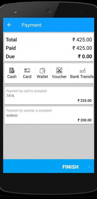 Restaurant pos payment