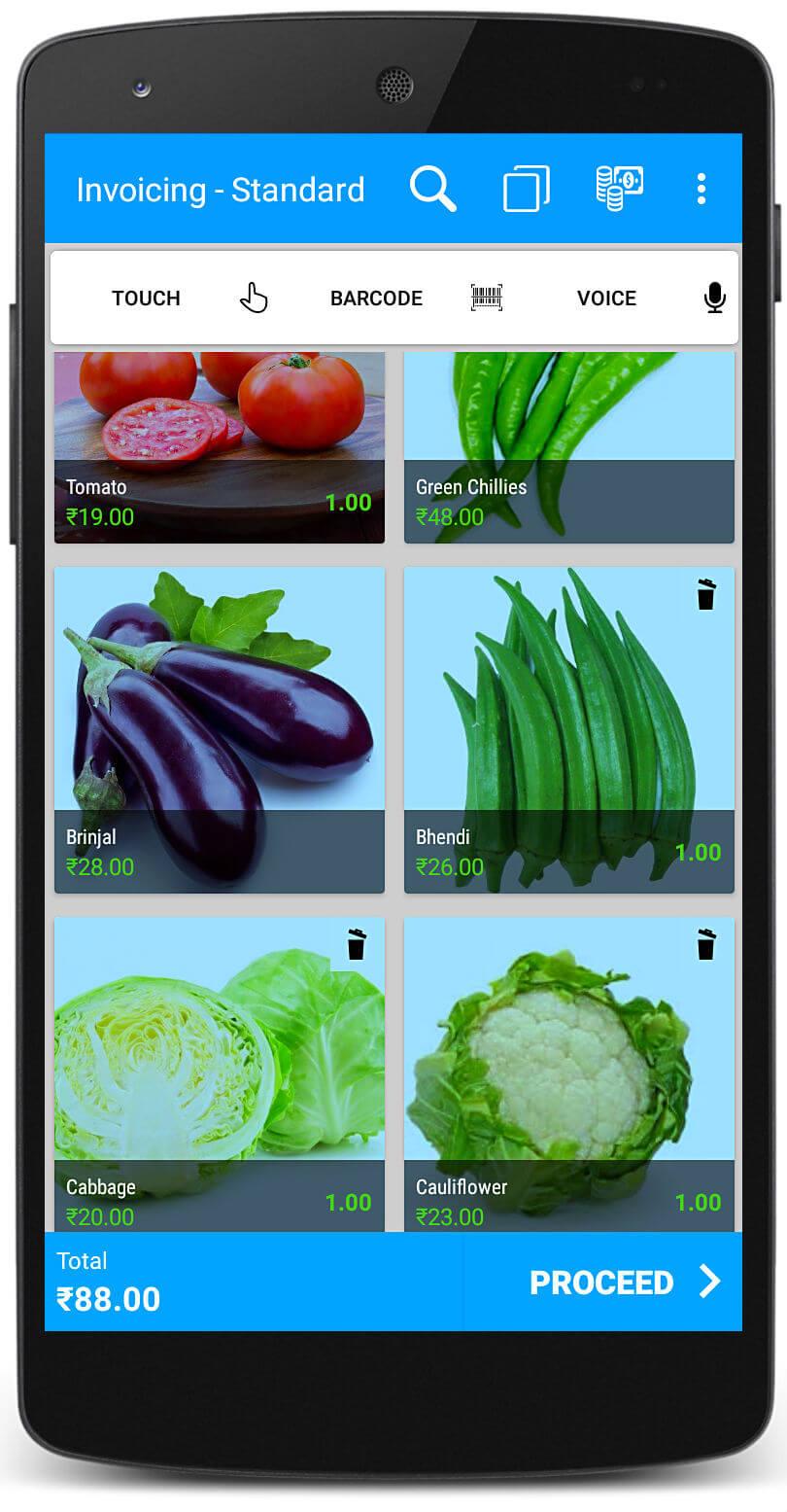 Vegetables Billing Software